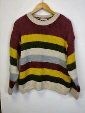 Women's Tu Knitwear Sweater Full Sleeve Multicolour Stripe Size 14 jumper