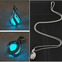 Fashion Couple The Little Mermaid's Teardrop Glow in Dark Pendant Necklace Gift