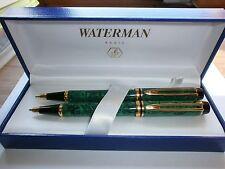 Waterman Man 200 Jade Green Ripple Ballpoint Pen & Pencil
