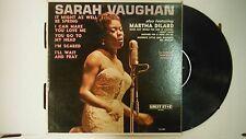 33 RPM Vinyl Sarah Vaughan Guest Star G1491 110414KME