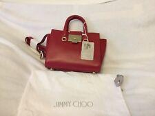 Jimmy Choo Riley Small in Raspberry Color Crossbody Bag