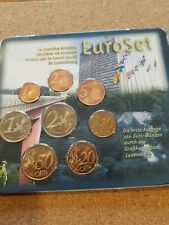 More details for luxembourg 2002 euro coin set 'rare'