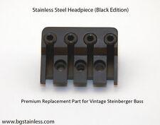 Vintage Steinberger Bass 4 String Stainless Steel Headpiece (Black Edition) USA