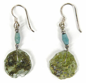 Ancient Roman Glass Earrings Beads Afghanistan SALE WAS $22.00