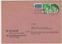 Germany 1949 Obligatory Tax Aid For Berlin Stuttgart Cancel Stamps Cover Rf24166