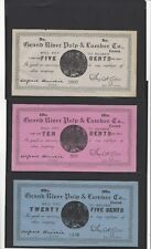 **Grand River Pulp & Lumber Co.  ¢5,¢10,¢25,¢50 &$5 Set of Certificates
