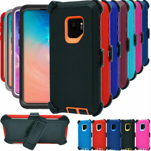For Samsung Galaxy S9 & S9+Plus Case With Clip(Belt Clip Fits Otterbox Defender)