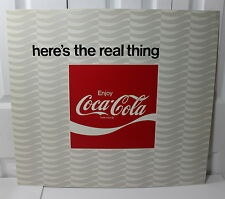 Coca Cola Vintage Here's the Real Thing Tin Metal Sign 24.5 by 22 inches