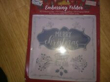 EMBOSSING FOLDER FOR SCRAPBOOKING CHRISTMAS 15X15 CM (D)