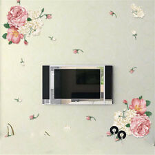 Beautiful Peony Flowers Wall Stickers Art Home Decor PVC Removable vinyl decalJD