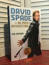 SIGNED - ALMOST INTERESTING by David Spade (2015, Hardcover)