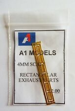 A1 MODELS 4MM DETAILING PARTS   Rectangular Exhaust ports  6 in pack