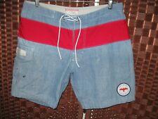 J Crew APOLIS swim trunks 32 mens shorts boardshorts blue red