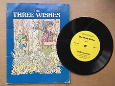 The Three Wishes Charles Perrault Book & Record Troll Associates Vintage RARE