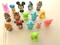 "DISNEY 16 PCS  1.5"" miniature plastic Figure with suction cups Mickey Minnie lot"