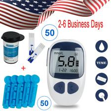 Digital Diabetes Blood Glucose Kit Sugar Meter Monitor+50 Test Strips+50 Lancets