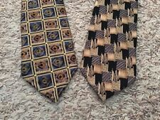 """Lot of TWO Cocktail Collection Ties """"Brandy"""" - Silk - Made in USA (4932)"""