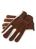 Cordova 8232 Driver Cowhide Split-Grain 2-Toned Leather Work Gloves - Size Large