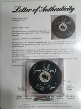 "Tomas Hertl Autographed Hockey Puck PSA/DNA FULL LETTER W/ INSCRIPTION ""4 GOALS"""