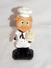 "NEW BOBBLEHEAD BARNYARD PIG PIGLET BAKER CHEF BIRTHDAY CAKE STATUE FIGURE 6"""