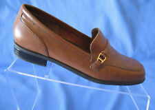 Women's Naturalizer S60 Brown Leather Buckle Slip On Loafers 405N66 Size 6.5M