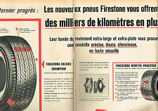 PUBLICITE ADVERTISING 124  1961  FIRESTONE  pneus WINTER  & DELUXE ( 2p)