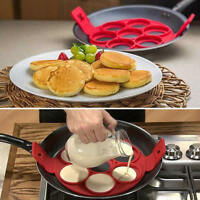 New Silicone Cake Mold Pancake Pan Flip Breakfast Maker Egg Ring Mould Nonstick