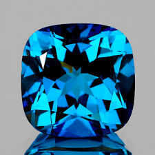 10mm CUSHION AAA+ EXCELLENT LONDON BLUE TOPAZ NATURAL GEMSTONE BRAZIL [FLAWLESS]