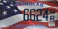Kentucky  License Plate,  Original Kennzeichen USA  6624HR ORIGINALBILD