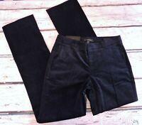 NWT Banana Republic Women Size 0 Logan Fit Stretch Corduroy Trouser Pants Navy