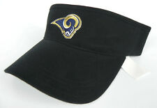 LOS ANGELES RAMS NFL BLACK AMERICAN NEEDLE TEAM ADJUSTABLE VISOR CAP HAT NWT!