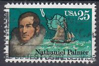 USA Briefmarke gestempelt 25c Nathaniel Palmer / 474