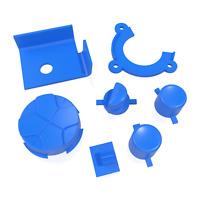 Game Gear Buttons Sega Replacement Dark Blue Keys Start A B DPad Power
