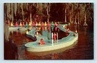 Cypress Gardens, FL - COLORFUL VIEW WATER SKIING WOMEN & POOL - POSTCARD - Q7