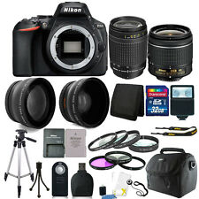 Nikon D5600 24.2 MP D-SLR Camera + 18-55mm + 70-300mm Lens & 32GB Accessory Kit