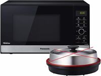 Panasonic NN-GD38HSGTG Mikrowelle mit Grill 1000 W, Kombimikrowelle, 23L schwarz