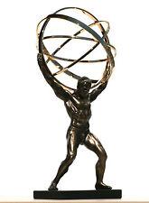 ATLAS TITAN Celestial Sphere Greek God  Statue Sculpture Bronze Finish 8.86''