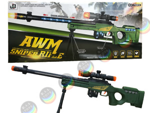 Kids Toy Gun Sniper Rifle Light Vibration Sound Effect 75 cm Long Children Gift