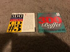 3DO INTERACTIVE SAMPLER CD #3 & BUFFET 7 DEMO GAMES, BOTH COMPLETE, GREAT SHAPE