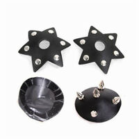 2PCS Punk Leather Rivet Studs Nipple Cover Stickers Breast Pasties Reusable Toy
