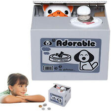 Dazzling Toys Kids Mischief Dog Saving Box Coin Stealing Automated Money Bank