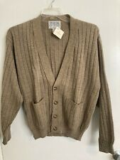NEW Sterling Edition London Fog Men's V-Neck Cardigan Sweater USA Made Sz S #T