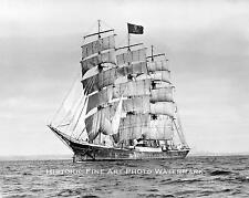 OLD WOODEN SAILING PIRATE SHIP VINTAGE PHOTO NAUTICAL DECOR 1890 8x10 #21895