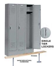 "Nexel Paramount Steel Locker Storage Gym School PS1236K Lockers 12"" x 12"" x 60"""