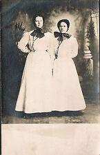 Manheim PA ~ Studio Real Photo Postcard RPPC ~ Two Women Wearing Black Bonnets