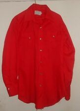 H Bar C WESTERN Style RED- Pearl Snap Buttons! New Old Stock! ROCKABILLY! Medium