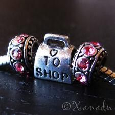 Love To Shop Handbag European Bead And Birthstones For Charm Bracelets Necklaces