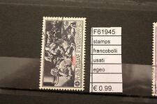 FRANCOBOLLI STAMPS EGEO USATI (F61945)