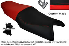 RED & BLACK CUSTOM FITS HONDA VFR 750 F 94-97 DUAL LEATHER SEAT COVER