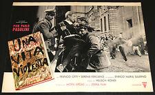 Franco Citti Pier Paolo Pasolini UNA VITA VIOLENTA fotobusta originale 1962 #3